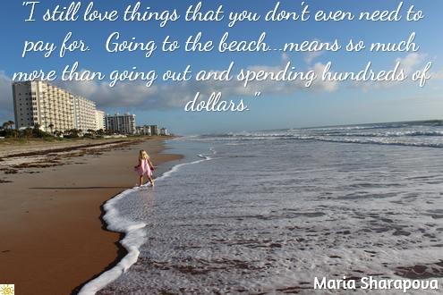 Beach, love, Maria Sharapova