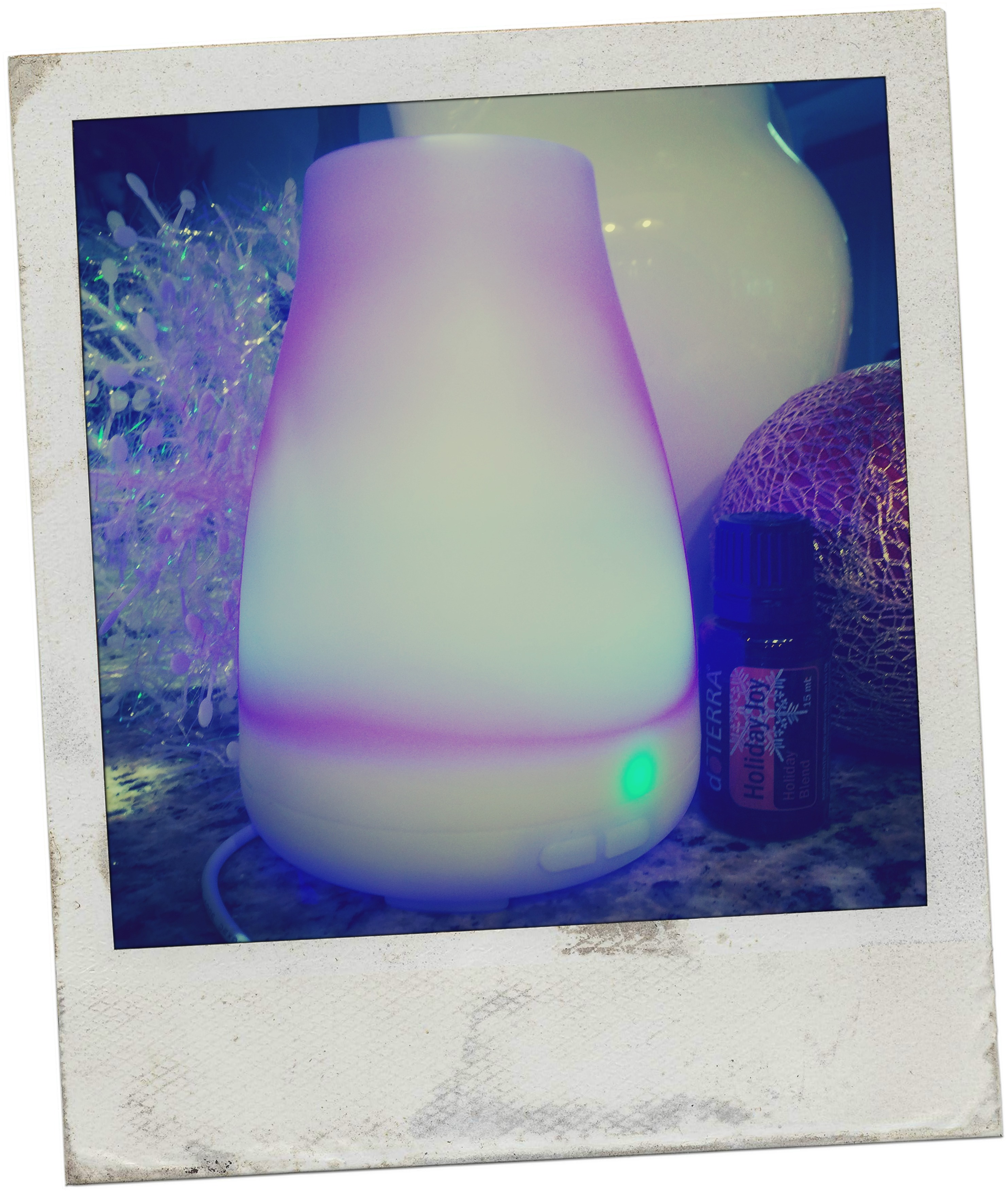Our diffuser piping away essential oils as usual:-)
